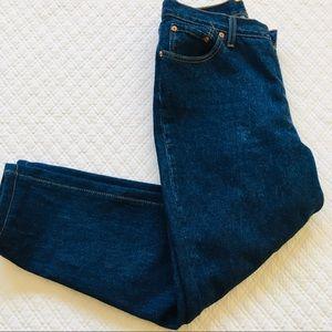 Levis Cropped High Rise Juniors 13 M Denim Jeans